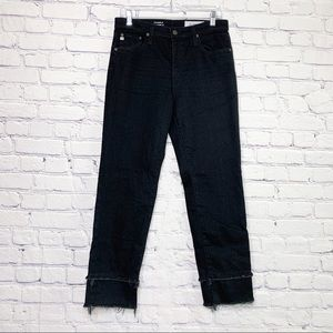 AG The Isabelle High Rise Straight Crop Jeans 29